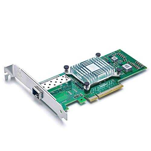 10Gtek® Carte Réseau 10GbE PCIE pour Intel X520-DA1-82599ES Chip, Single SFP+ Port, 10Gbit PCI Express x8 LAN Adapter, 10Gb NIC pour Windows Server, Win7/8/10, Linux, 3-Year Warranty