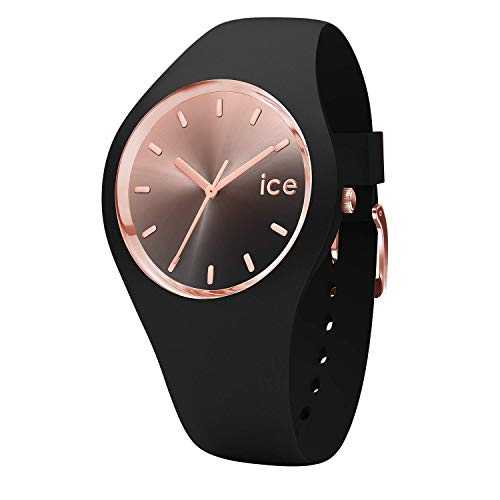 Ice-Watch - Ice Sunset Black - Montre Noire pour Femme avec Bracelet en Silicone - 015748 (Medium)