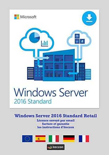 Windows Server 2016 Standard 64 Bits 16-Core English Genuine