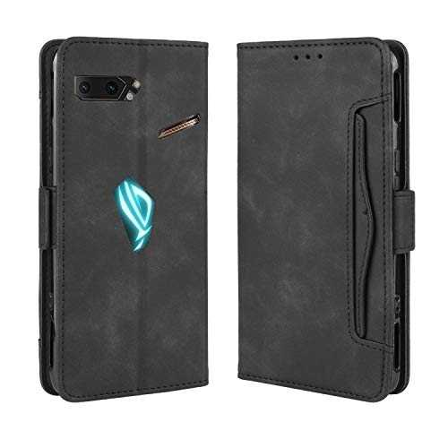 SPAK ASUS ROG Phone II Coque,Ultra Mince PU Cuir Etui Flip Housse Bookstyle Protection Case pour ASUS ROG Phone II (Noir)