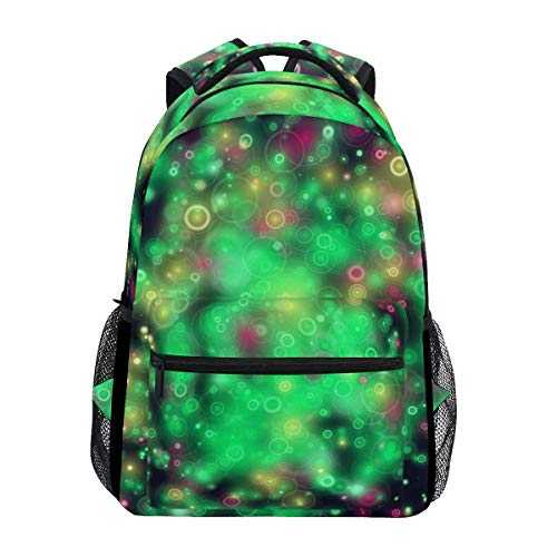 Bubbles in The Black Sky School Bag Travel Daypack Casual Shoulder College Bookbag Unisex