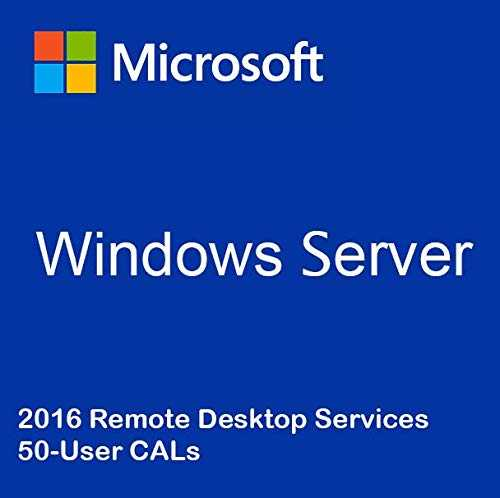 Windows Server 2016 RDS 50-User CALs (pack) Remote Desktop Services