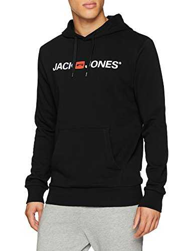 Jack & Jones Jjecorp Logo Sweat Hood Noos Shirt À Capuche, Noir (Black Detail:Reg Fit), Large Homme