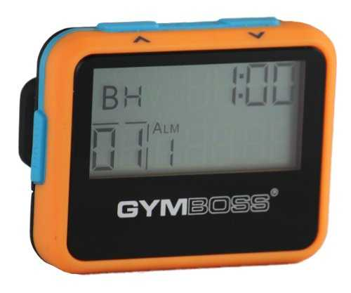 Gymboss Minuteur d'intervalle et chronomètre – COQUE ORANGE / BLEU SOFTCOAT