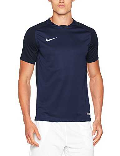 Nike Trophy III SS Maillot Homme, Midnight Navy/Dark Obsidian/Dark Obsidian/Blanc, FR : L (Taille Fabricant : L)