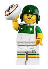 LEGO Minifigures Series 19 Rugby Player Minifigure with Ball 71025 (Bagged)