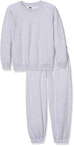 Fruit of the Loom School 2 Piece Set Completo Sportivo, (Heather Grey), 14-15 Anni (Pacco da 2) Bambino