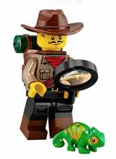 LEGO Minifigures Series 19 Jungle Explorer Minifigure with Chameleon 71025