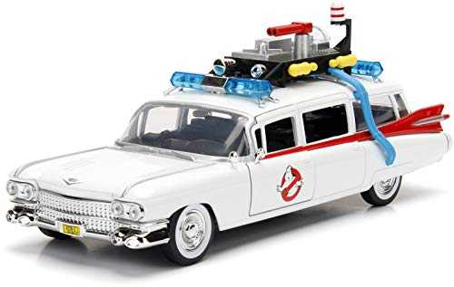 Jada JA99731 Hollywood Rides 1:24 Ghostbusters ECTO-1, Multicolore, Taille Unique