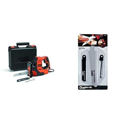 Black Decker 3-in-1 Autoselect Universalsäge Scorpion 500W RS890K   Piranha Scorpion Sägeblatt-Set