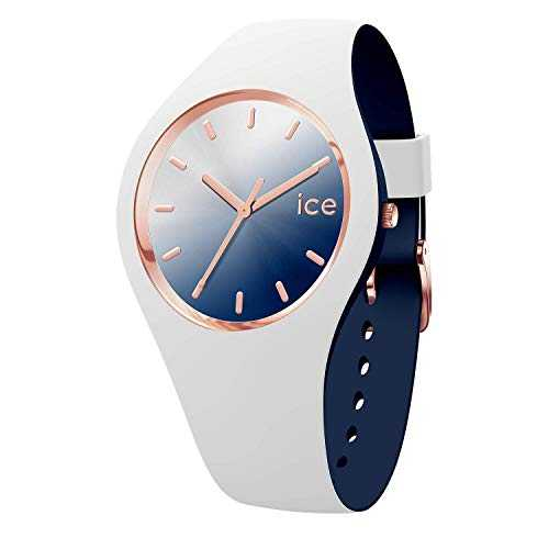 Ice-Watch - ICE duo chic White marine - Montre blanche pour femme avec bracelet en silicone - 017153 (Small)