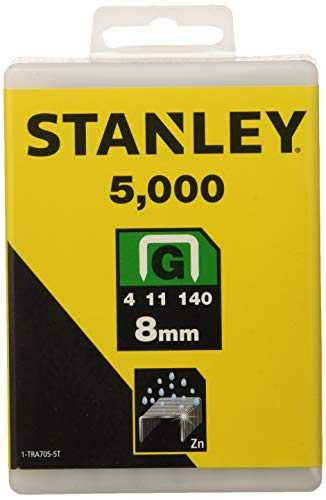 Stanley 1-TRA705-5T Set di graffette robuste tipo G 8 mm 5000 pz.