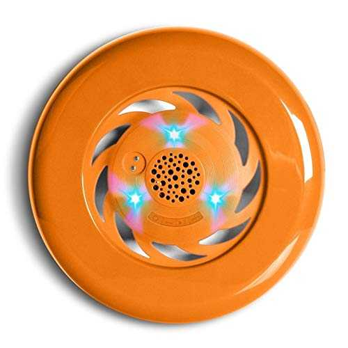Ledwood Frisbee Speaker Lumineux Orange