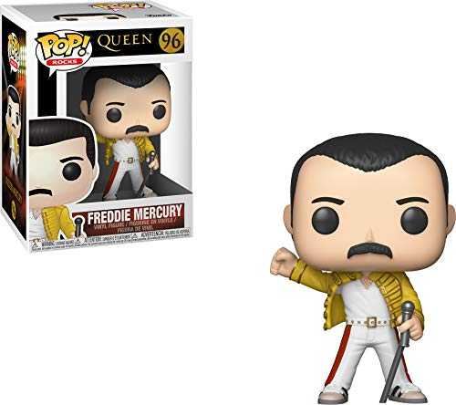 Funko- Figurines Pop Vinyl: Rocks: Queen: Freddie Mercury (Wembley 1986) Collectible Figure, 33732, Multcolour