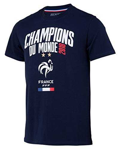 Equipe de FRANCE de football T-Shirt FFF - Champion du Monde 2018 - Collection Officielle Taille Enfant 6ans