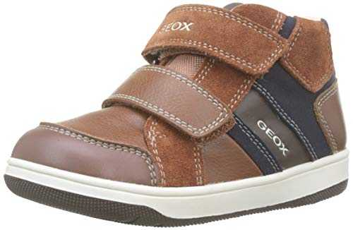 Geox Baby Jungen B New Flick Boy C Sneaker, Braun (Brown/Navy C0947), 27 EU