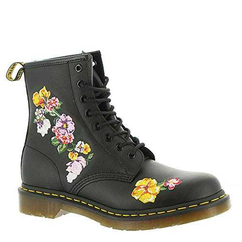 Dr. Martens 1460 Finda 2 Softy T 8 Eye Boot Black Flowers 37