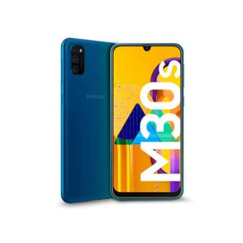 "Samsung Galaxy M30s Display 6.4"", Blu, 64 GB Espandibili, RAM 4 GB, Batteria 6000 mAh, 4G, Dual SIM, Smartphone, Android 9 Pie - Versione Italiana [Esclusiva Amazon]"