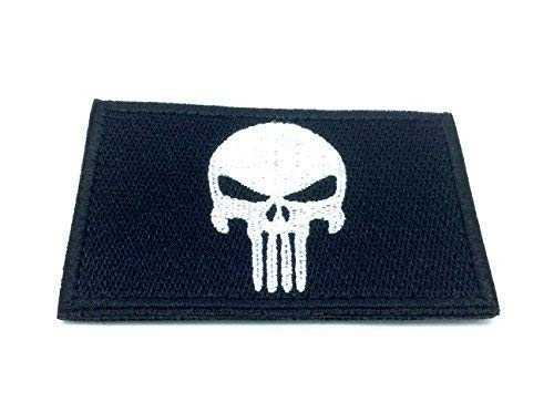 Punisher Noir Brodé Patch Airsoft
