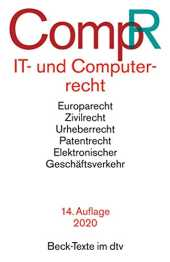 IT- und Computerrecht CompR (Beck-Texte im dtv)