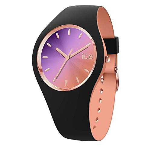 Ice-Watch - ICE duo chic Black purple - Montre noire pour femme avec bracelet en silicone - 016982 (Medium)