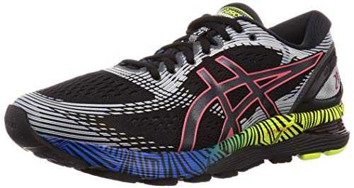 ASICS Gel-Nimbus 21 Ls, Chaussures de Running Homme, Noir (Black/Electric Blue 001), 44 EU
