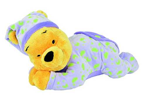 Disney Peluche Veilleuse Brille Dans la Nuit - Winnie Glow in the Dark - 30 cm
