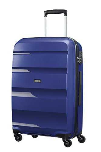 American Tourister Bon Air Spinner Suitcase, 66 cm, 58 L, Bleu (Midnight Navy)