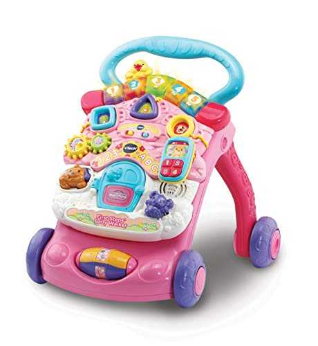 VTech 80-505683 First Steps - Andador para bebé, Color Rosa