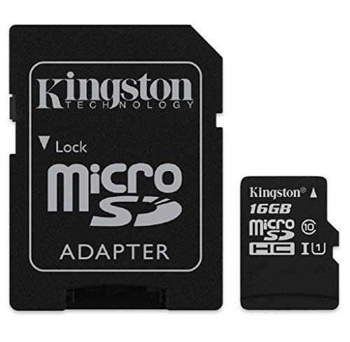 Kingston SDCS/16GB Tarjeta de Memoria Sd 1, 16 gb, Negro