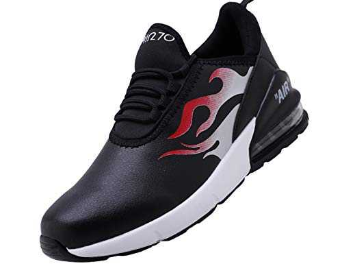 SINOES Femme Homme Basket Mode Chaussures de Sports Course Sneakers Fitness Outdoor Run Shoes Running Respirantes Athlétique Multicolore Respirante Noir 44 EU