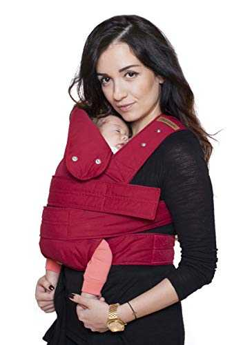 marsupi Baby- und Kindertrage, Version 2.0 (ruby red/red, S/M)