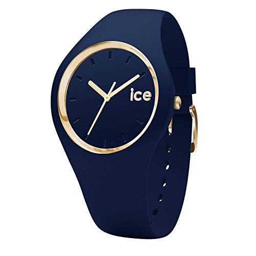 Ice-Watch - Ice Glam Forest Twilitght - Montre Bleue pour Femme avec Bracelet en Silicone - 001055 (Small)