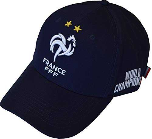 Equipe de FRANCE de football Casquette FFF - Champion du Monde 2018 - Collection Officielle Taille réglable