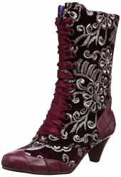 POEAB|#Poetic Licence by Irregular Choice Damen Lady Victoria Kurzschaft Stiefel, (Burgundy M), 7.5 EU