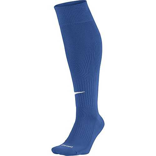 Nike - SX4120 - Chaussettes de football - Mixte adulte - Multicolore (Varsity Royal/White) - M (Taille fabricant: 38-42)