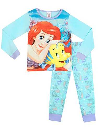 Disney The Little Mermaid - Pigiama a maniche lunghe per ragazze - Ariel - 5 - 6 Anni