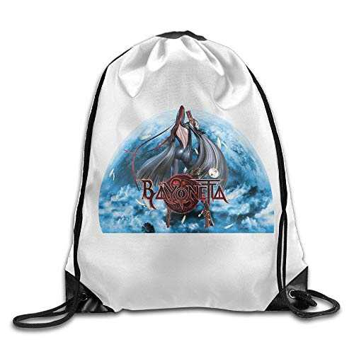 Naiyin Bayonetta Logo Drawstring Backpack/Sack Bag