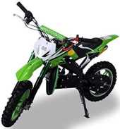 Kinder Mini Crossbike Delta 49 cc 2-takt Dirt Bike Dirtbike Pocket Cross (Grün)
