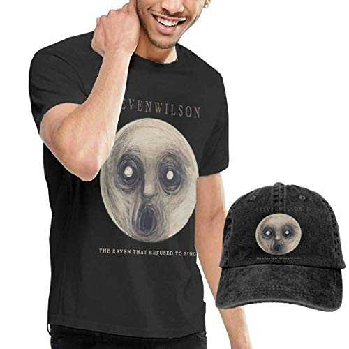 CINDYO Hemden Steven Wilson The Raven That Refused to Sing T-Shirt Mens Tee T-Shirts Vintage Jeans Baseball Cap Hat