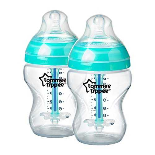 Tommee Tippee Closer to Nature - Biberón, Neutral, 260 ml (pack de 2), 0 meses