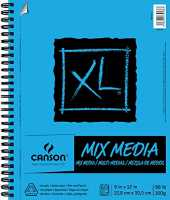 "Strathmore Canson XL Spiral Multi-Media Paper Pad 9""X12"""