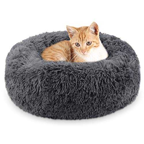Legendog Lit de Chat de, lit Doux/Chaud d'animal familier/lit de Sommeil de Chat/Lits d'animal familier pour des Chatons Dormant (Dark Grey)