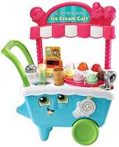 LeapFrog- Scoop & Learn Ice Cream Cart Toy, 600703, Coloris Assortis, 21.7 x 51.6 x 63.2 cm