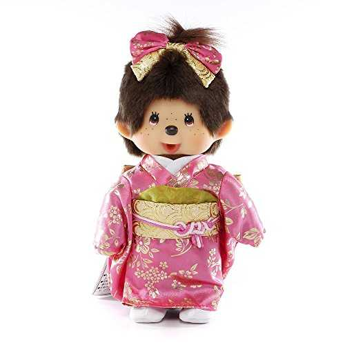 Original Sekiguchi 8 Tall Girl Monchhichi in Japanese Outfit by Monchhichi
