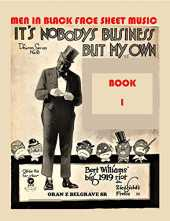 MEN IN BLACK FACE SHEET MUSIC BOOK 1: FUNNY.... MOST OF THE MEN IN BLACK FACE, ARE WHITE (English Edition)