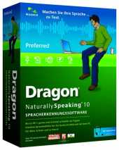 Nuance Dragon NaturallySpeaking Naturally Speaking Preferred 10.0, DE