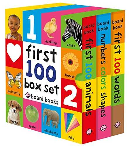 First 100: First 100 Words / Numbers Colors Shapes / First 100 Animals