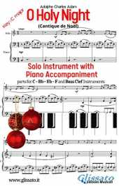 O Holy Night - Solo with Piano acc. (key C): Cantique de Noël (English Edition)