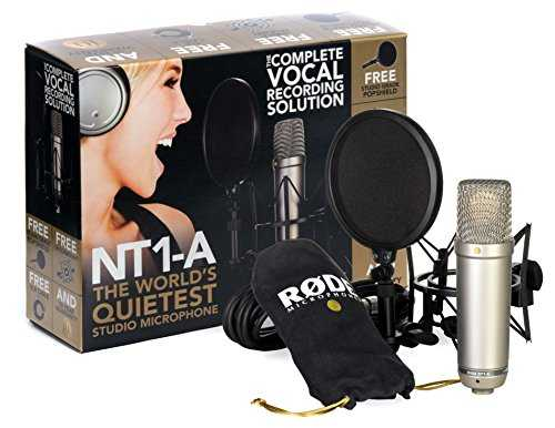 "Kit RODE NT1-A Complete Vocal Recording - 1"" Cardioid Condenser Microphone   SM6 Shock Mount with Detachable Pop Filter"